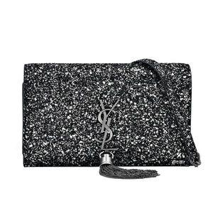 Saint Laurent Monogram Kate Tassel Glitter WOC
